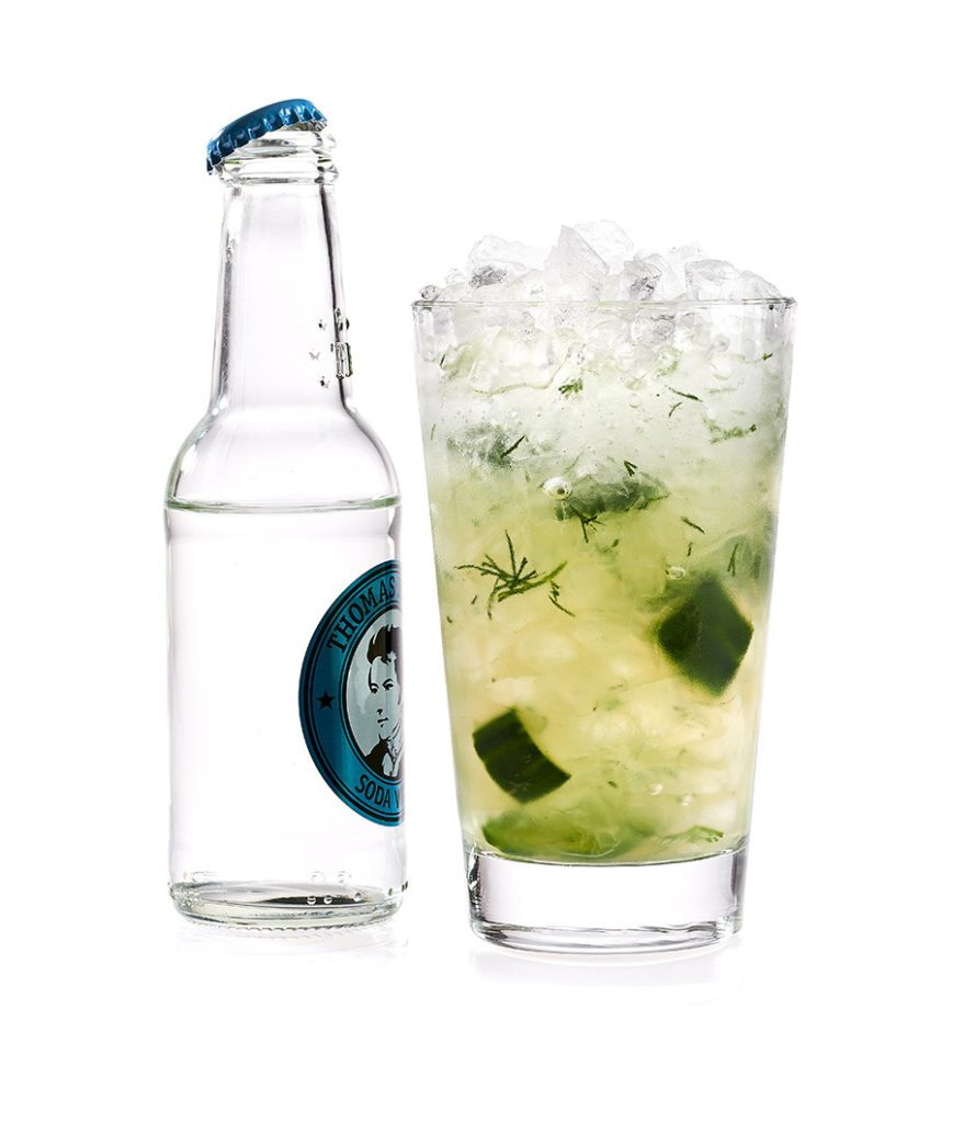 Der Cucumber Lemonade mit Thomas Henry Soda Water