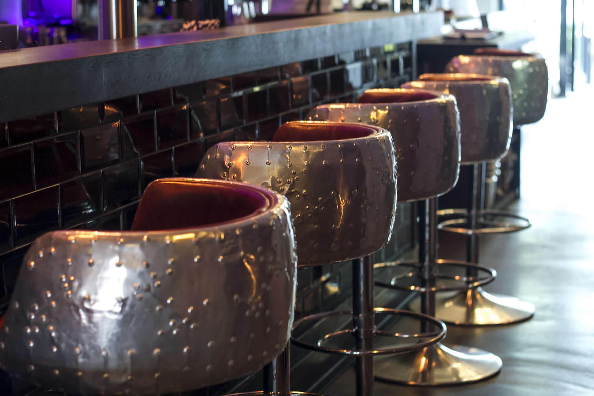Das Interieur der Gin & Jagger Bar in Essen