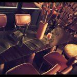 Die Möbel in der Bar Die Blume von Hawaii in Nürnberg