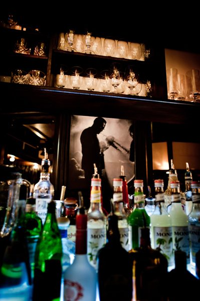 Die Bar der Schwarz Weiß Bar in Stuttgart