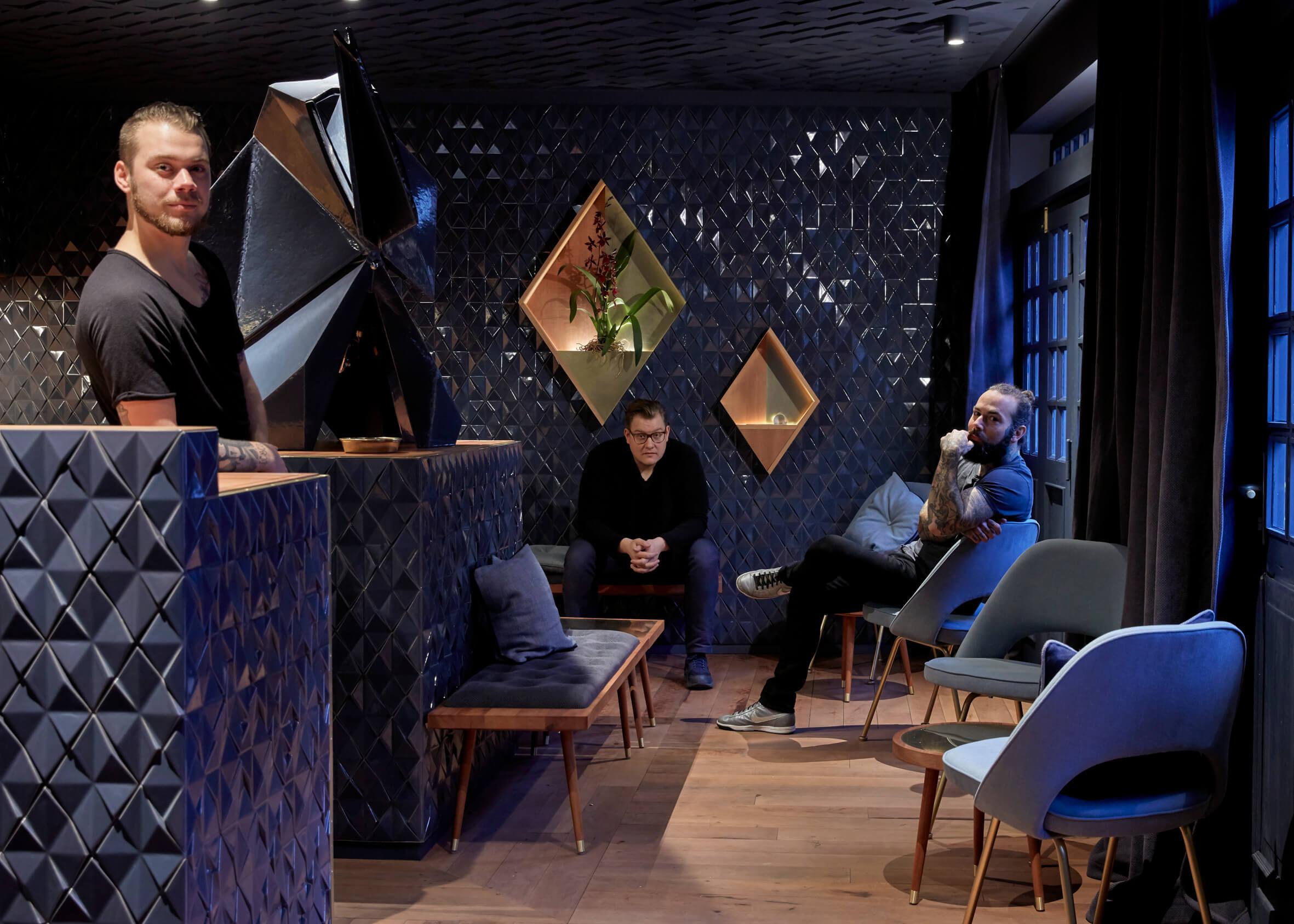 Einblick in die Bar Bonechina in Frankfurt