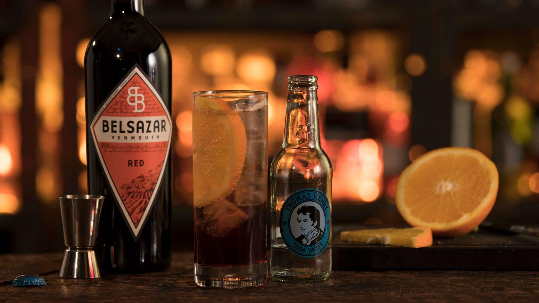 Der Americano mit Thomas Henry Soda Water