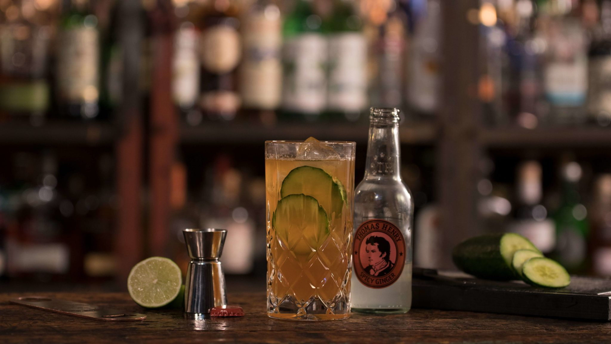 Der Drink Q! Borgmann mit Thomas Henry Spicy Ginger