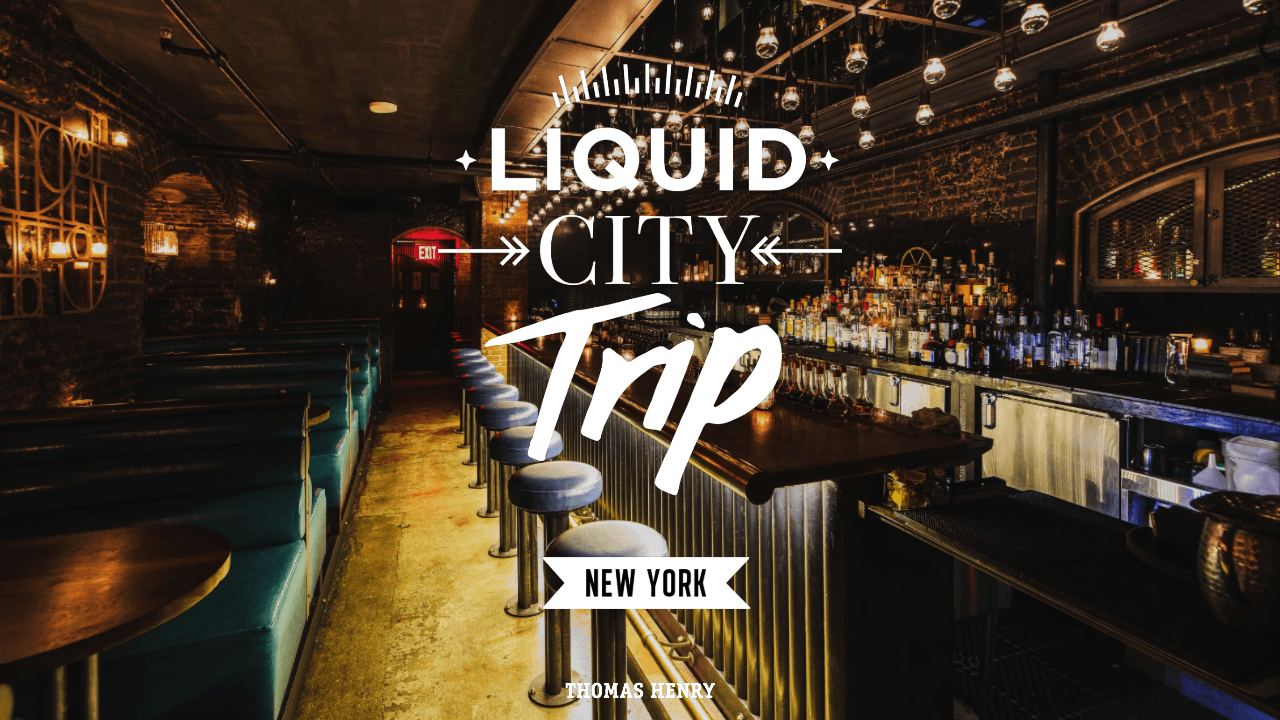Titelbild Liquid City Guide New York in der Bar Patent Pending