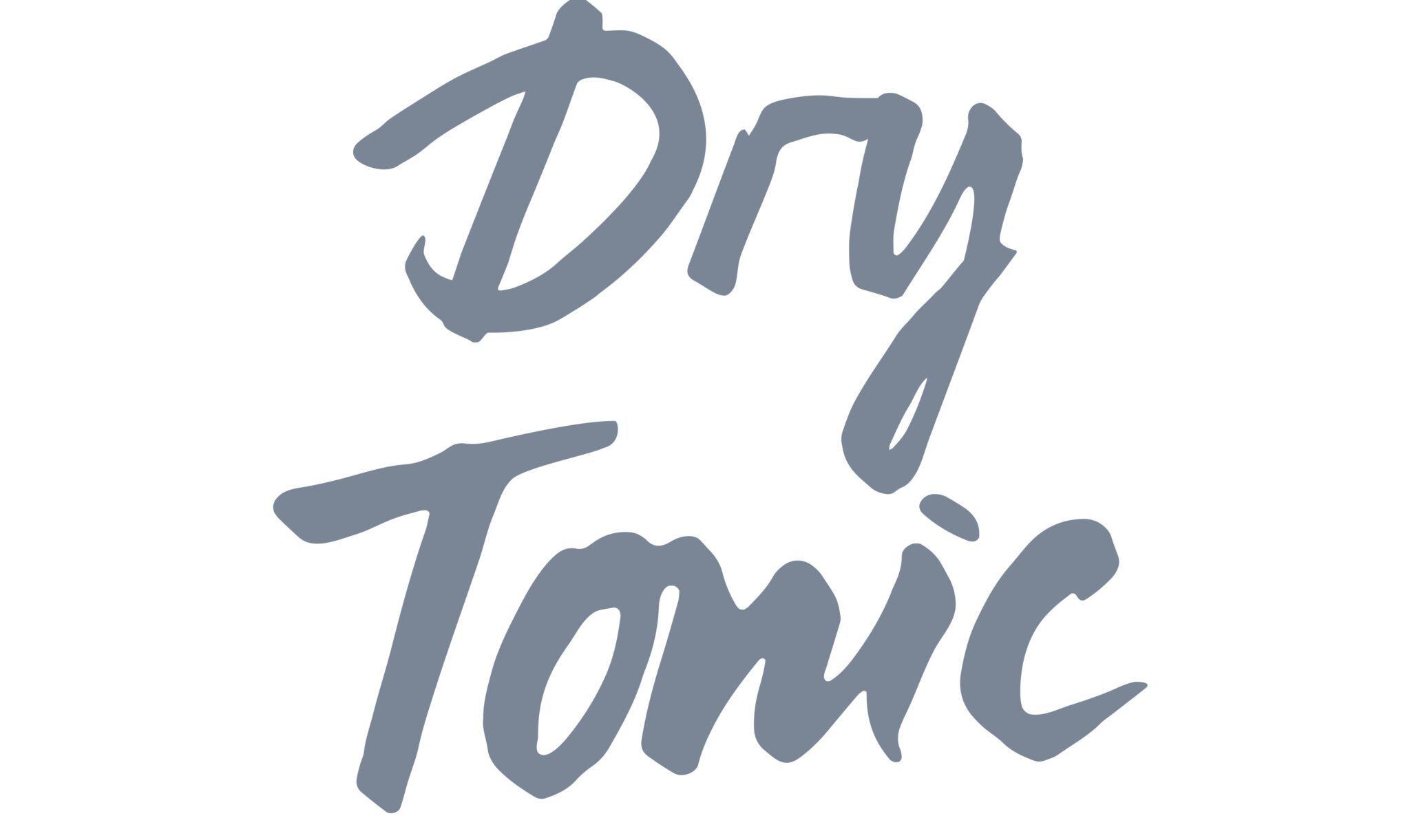 schriftzug dry tonic 1
